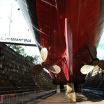  Hull of HMAS Diamantina in dry dock of Maritime Museum