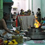  inside the temple was a serene ceremony
