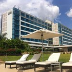 The hotel from the pool area