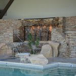 Indoor pool with waterfalls (hydra massage)