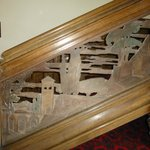  Beautiful carved main stair case