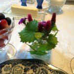 Fresh flowers at each place setting