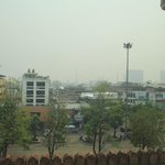 View from the room... Horrible air quality for this period in the north...