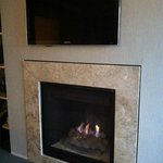  Gas fireplace under the TV