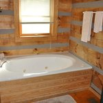 Jacuzzi tub in small cabins