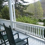 sit on the porch and enjoy the mountain view