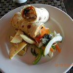 Sumptuous lunch - fish wrap