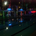  Poolside night time