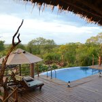  Looking from the veranda over the pool to the watering hole