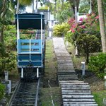 Funicular to get to the rooms