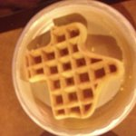 Texas waffles at the Hampton inn!!