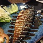  mackerel grill w/ teriyaki sauce