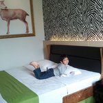 my boy, @ Deluxe room