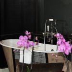 Our roll top bath in room 109
