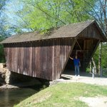 Old covered bridge down the road..