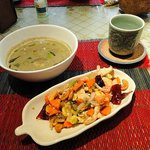 Green Curry and Fried Cashew Nut with Chicken
