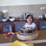  my baby with cake