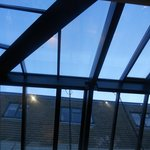  the roof of the dining area