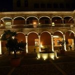  impressive inner courtyard by night