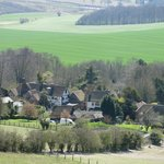 Thurnham, from the North Downs (the Black Horse is in the centre)