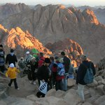 Sunsrise! Warming the night-time climbers! Magic!