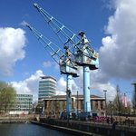 The old cranes on Salford Quays