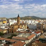 This a view of Malaga from the roof top