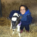  me with a day-old calf!
