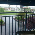 "Balcony view ""Damon's"" restaurant side"