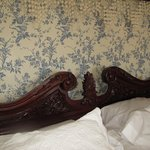 Carving on bed headboard