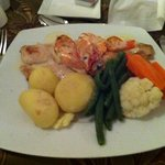 wonderful sea bass & prawns!