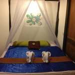 Double bed in bungalow 2