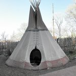 Teepee dining at the Hotel Santa Fe - lots of fun