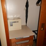  Closest with in-room safe, umbrella, and storage drawers.