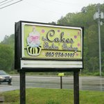 Look for this sign on Wears Valley Rd-Great cup cakes