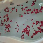 Bath tub in the room. You may request for additional bath gels you can use here.