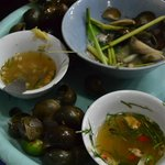 snails, a local delicacy available outside the hotel
