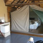 The tented bedroom