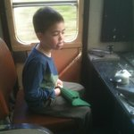  My eldest boy pretending to drive the train