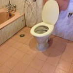 Soily toilet area and unclean floor