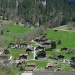 Part of the village of Lauterbrunnen