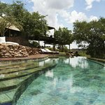 The pool at Singita Faru Faru Lodge