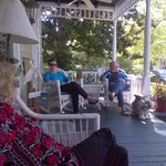 Donna, Karen and Dolph enjoying the front porch!