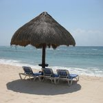  chairs, palapa, beach