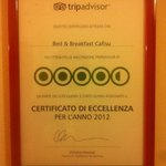  TripAdvisor certificate 2012