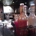 we finished off a bottle of the hot barbeque sauce