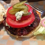 6Oz burger with blue cheese