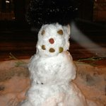 A snowman during the March Winter Storm in Denver