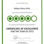2012 AWARD FROM TRIP ADVISOR