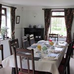  Our dining table where guests enjoy breakfast and dinner